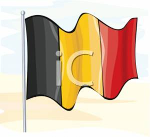 Clipart Picture of the Flag of Belgium.