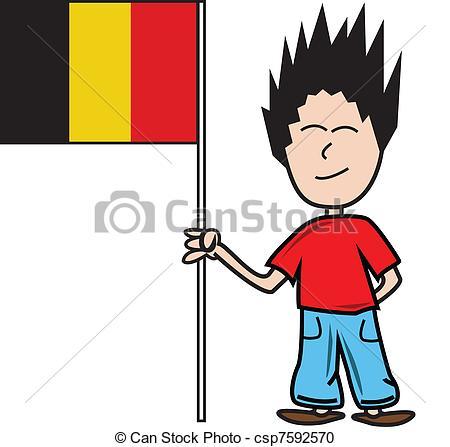 Vector Clipart of Belgian flag.