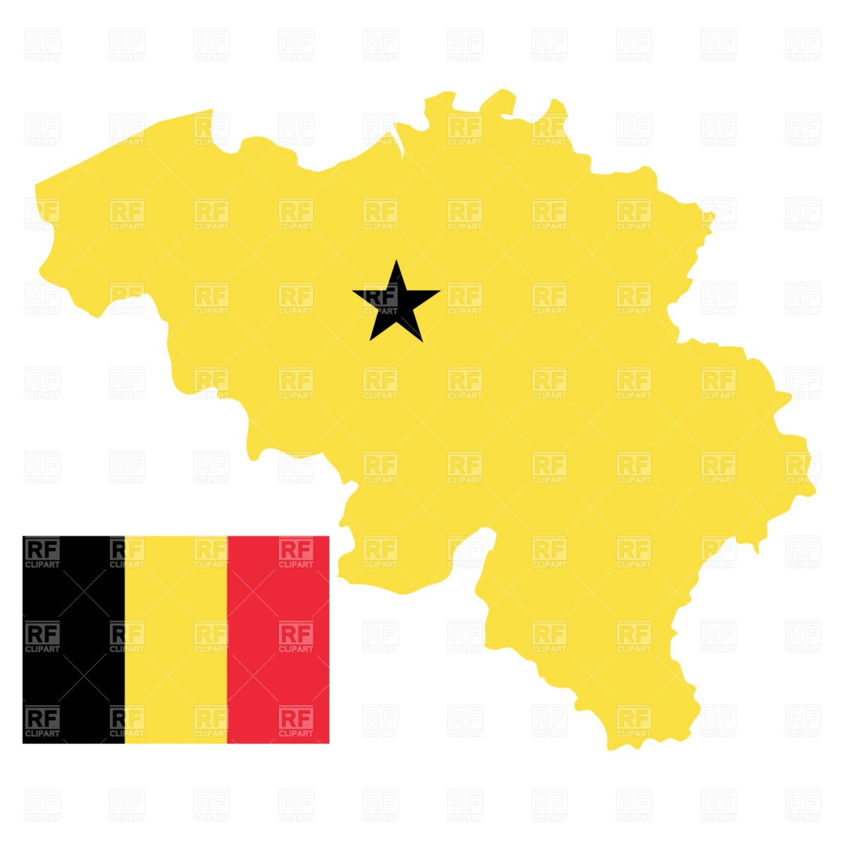 Heart with Belgian flag colors. I love Belgium Vector Image #31916.