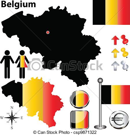 Belgium map Clipart Vector and Illustration. 1,370 Belgium map.