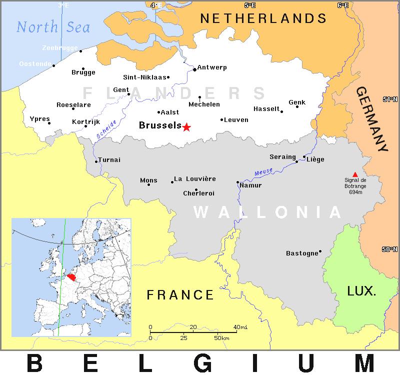 Belgium Population Density 1968 Clip Art Download.