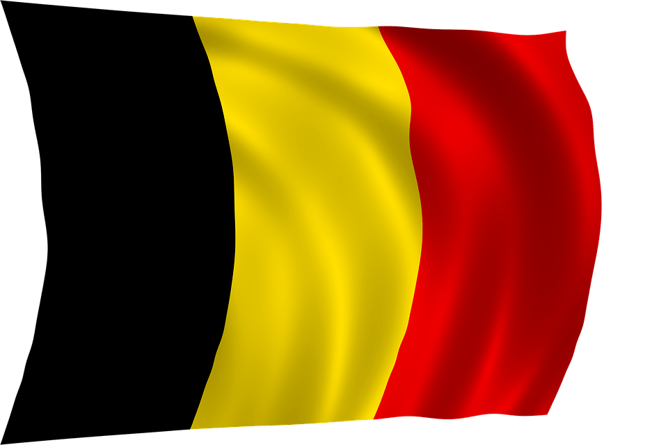 Wave Belgium Flag transparent PNG.