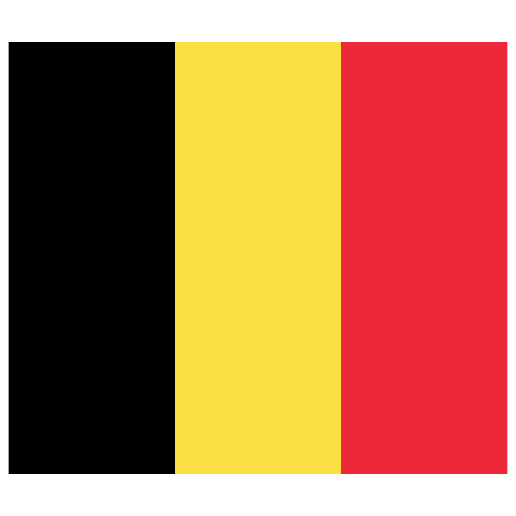 BE Belgium Flag Icon.