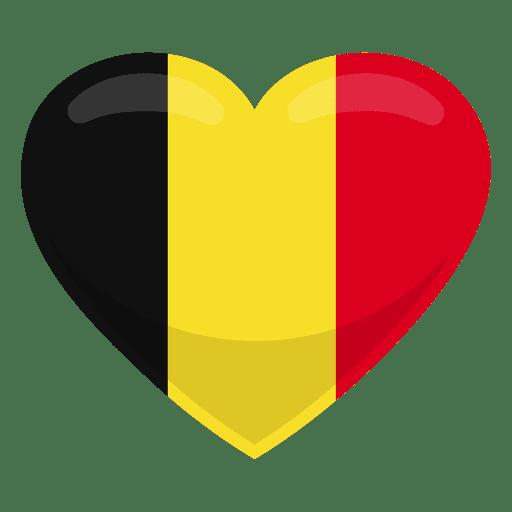 Belgium heart flag.