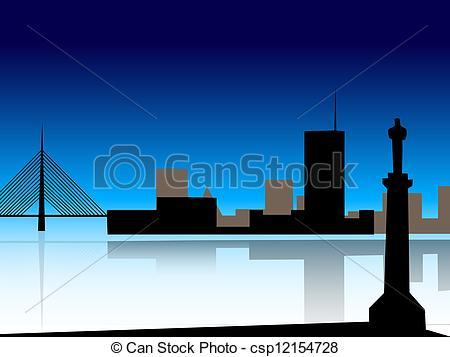 Clip Art of Belgrade skyline.