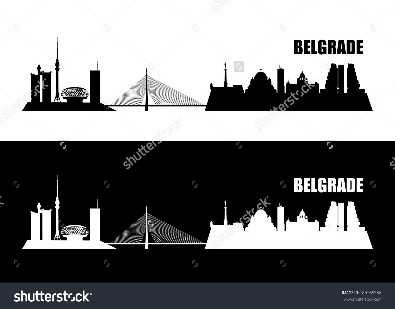 Belgrade Skyline Vector Illustration Stock Vector 189165386.