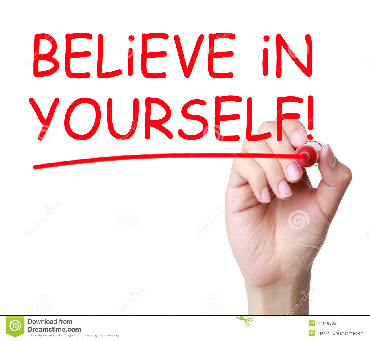 Believe in yourself clipart.