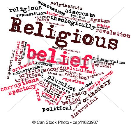 Stock Illustration of Religious belief.