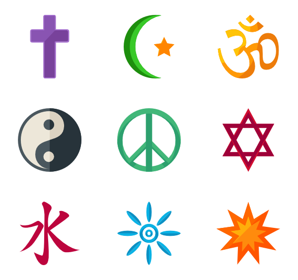 5 belief icon packs.