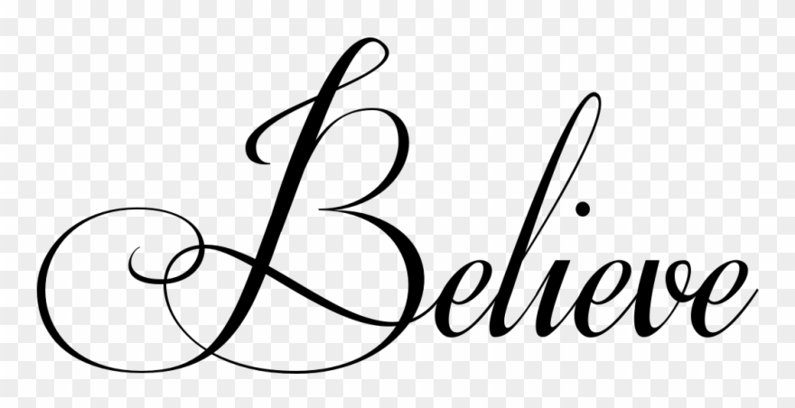 Believe Tattoo In Respective Font.