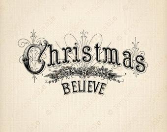 Believe Christmas Clipart#1928752.
