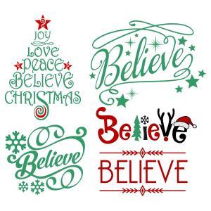 Believe Christmas Svg Cuttable Design free download.