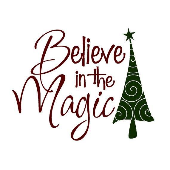 Believe Christmas Clipart#1928738.