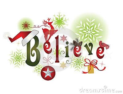 Believe Christmas Clipart#1928742.