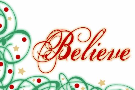 Believe Christmas Clipart#1928734.
