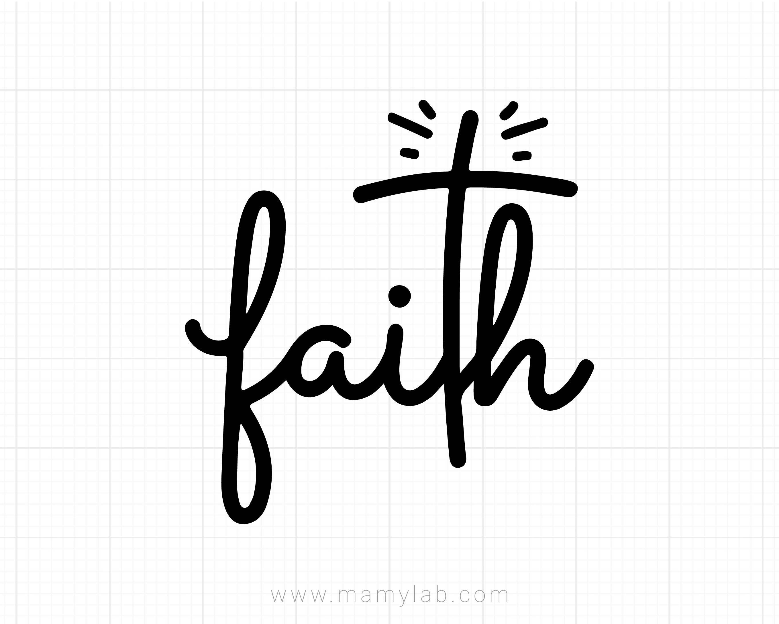 Faith Svg, Faith Cross Svg, Jesus Cross Svg Dxf Png, Christ Clipart,  Believe Svg, Christian Shirt Design, Silhouette, Cricut, Cut Files.