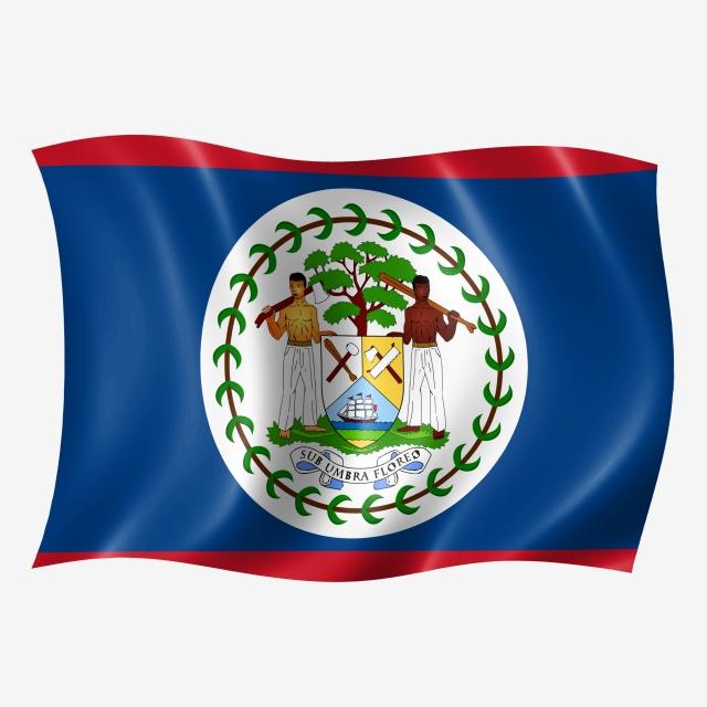 Belize Waving Flag, Flying Flag, Flying, Wave PNG Transparent.