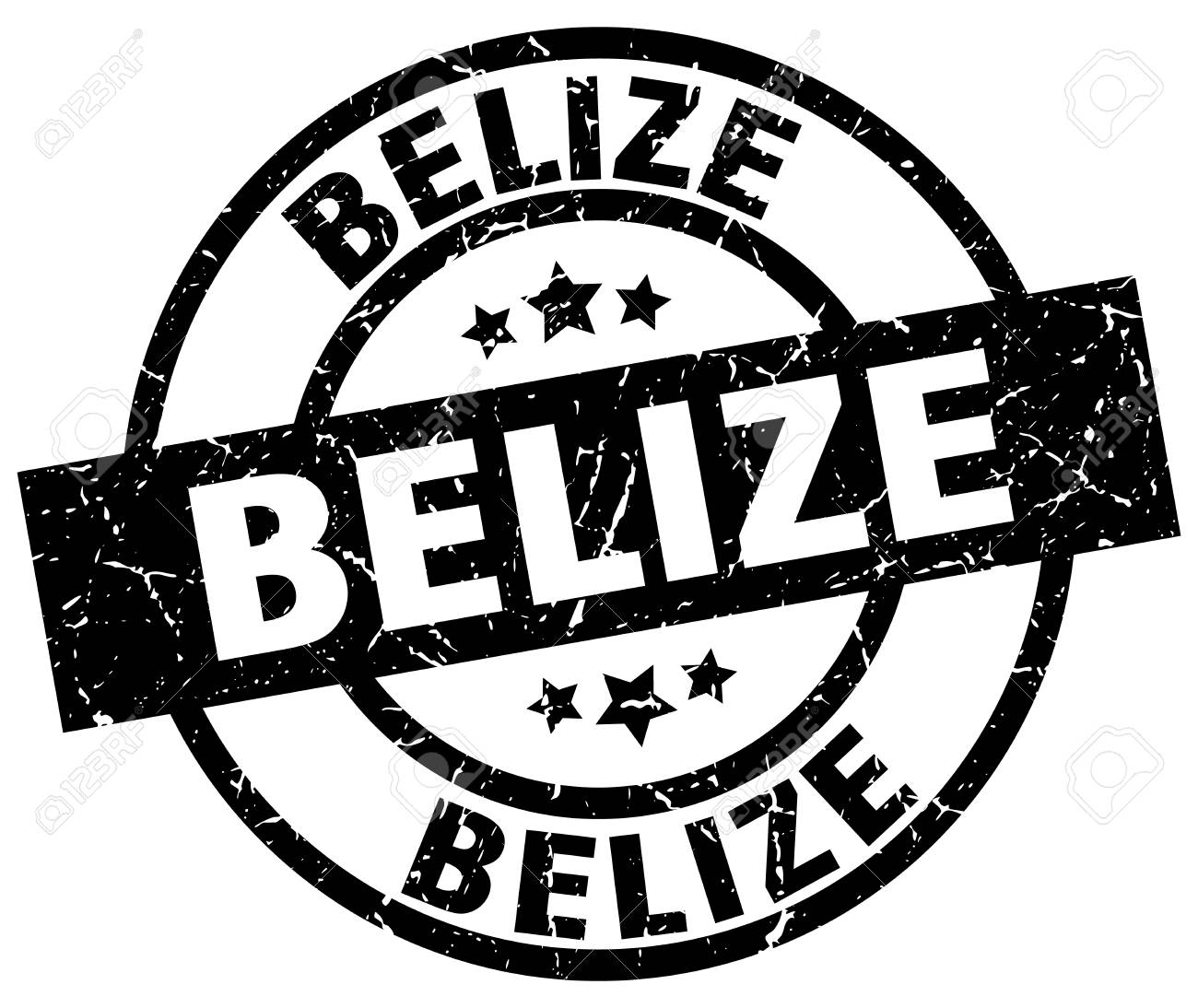 Belize black round grunge stamp.