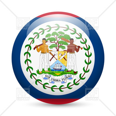 Button with flag of Belize.
