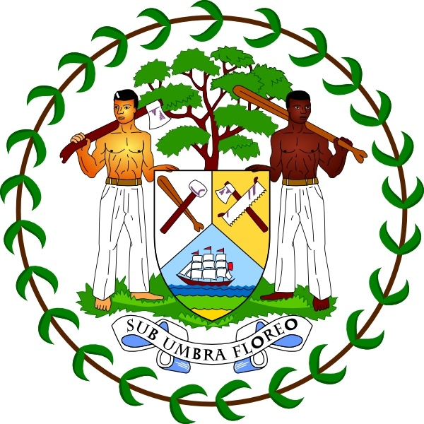 Coat Of Arms Of Belize clip art Free vector in Open office drawing.