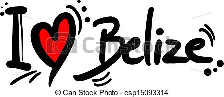 Vector Clip Art of Belize love.