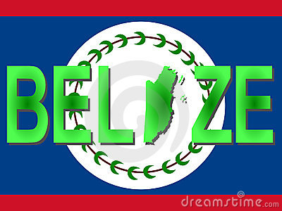 Belize Map Royalty Free Stock Photo.
