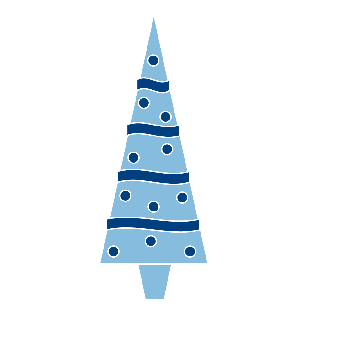 Christmas bell blue clipart.