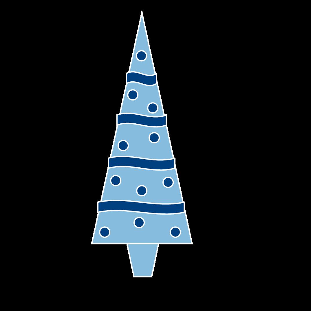 Christmas bell blue clipart.