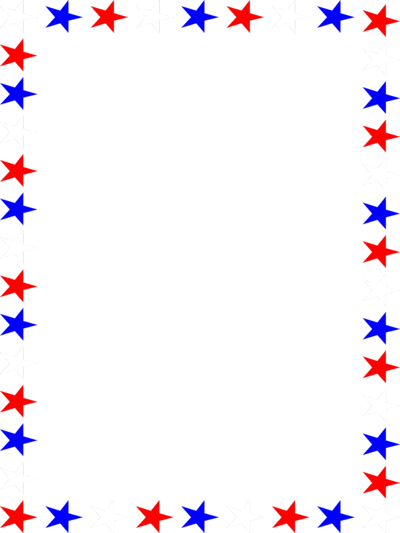 Red white and blue flag stars clipart.
