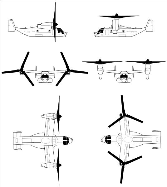 V 22 osprey clipart.