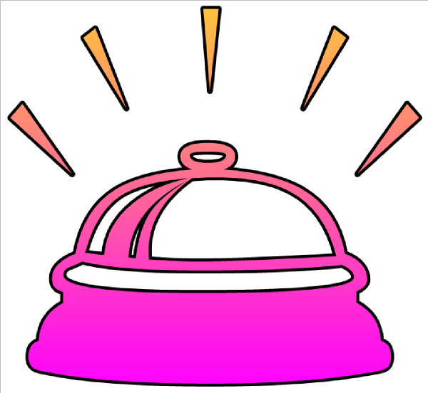 Hand Ringing Bell Clipart.