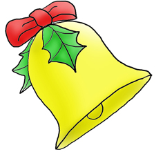 Christmas clip art bell free clipart images.