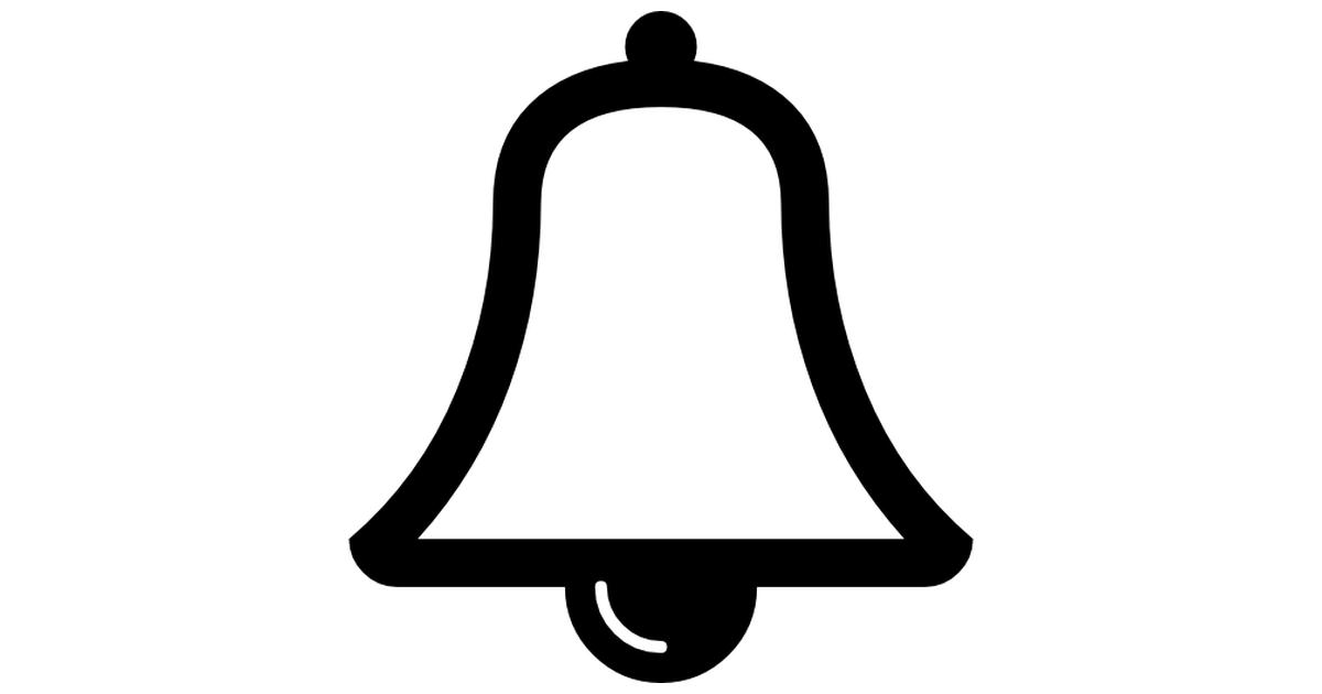 Musical bell outline.