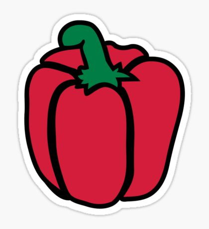 Bell Pepper: Stickers.