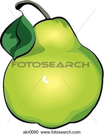 Stock Illustrations of pear akr0050.