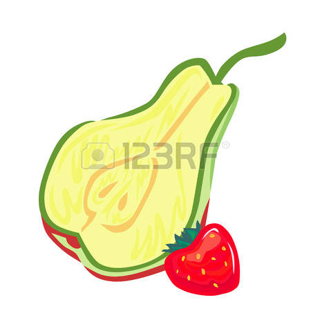 Simple Style Pear Stock Vector Illustration And Royalty Free.