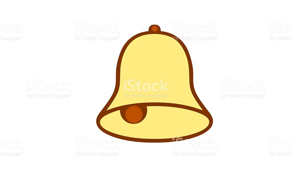 Yellow Bell Clip Art stock vector art 491669836.