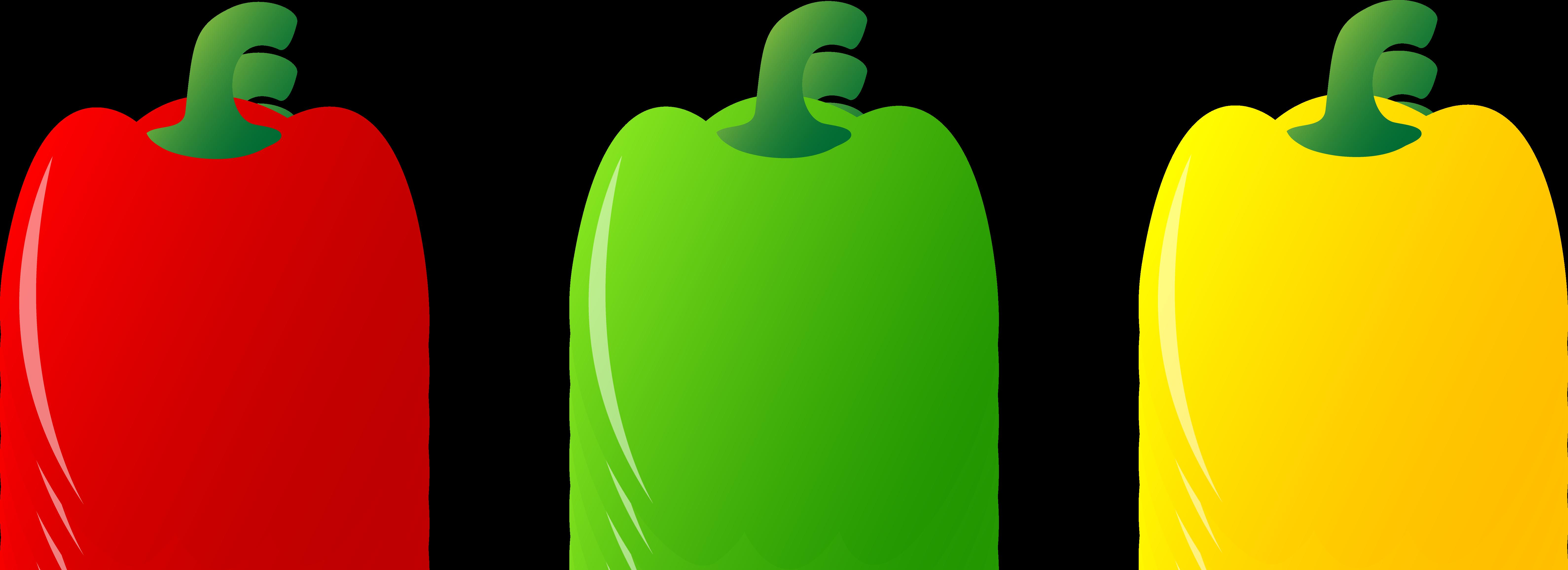 Bell pepper clipart green.
