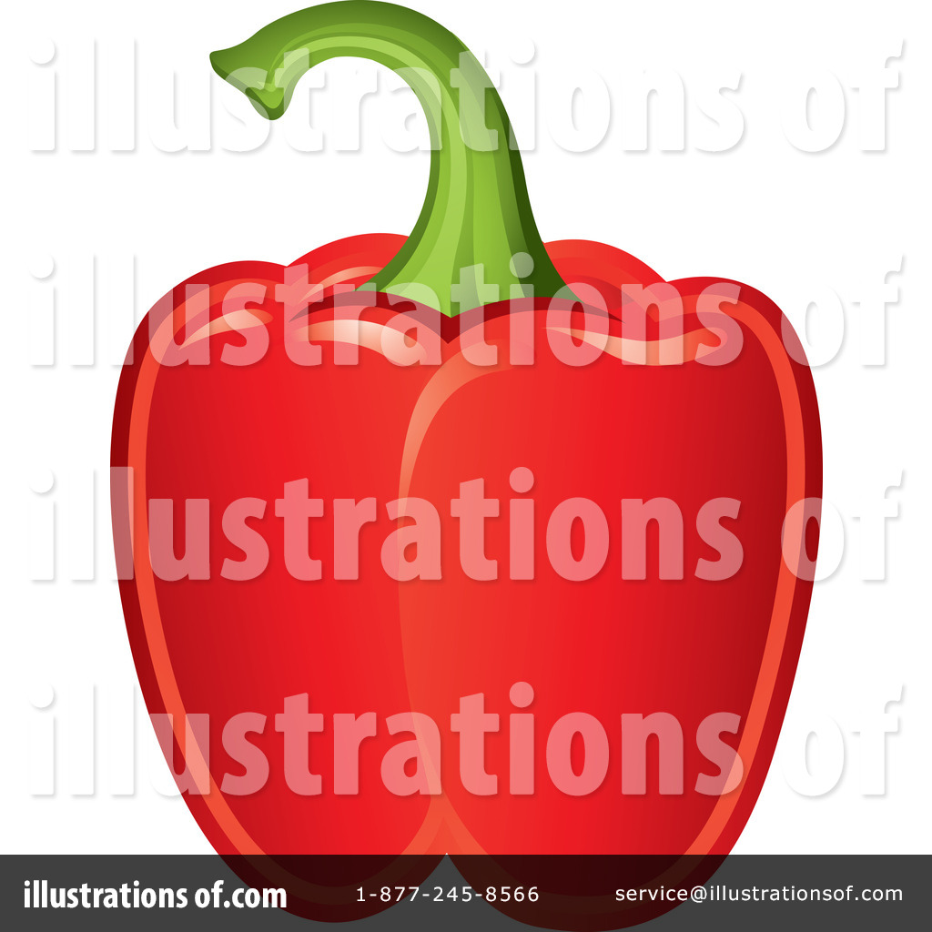 Red Bell Pepper Clipart #1054452.