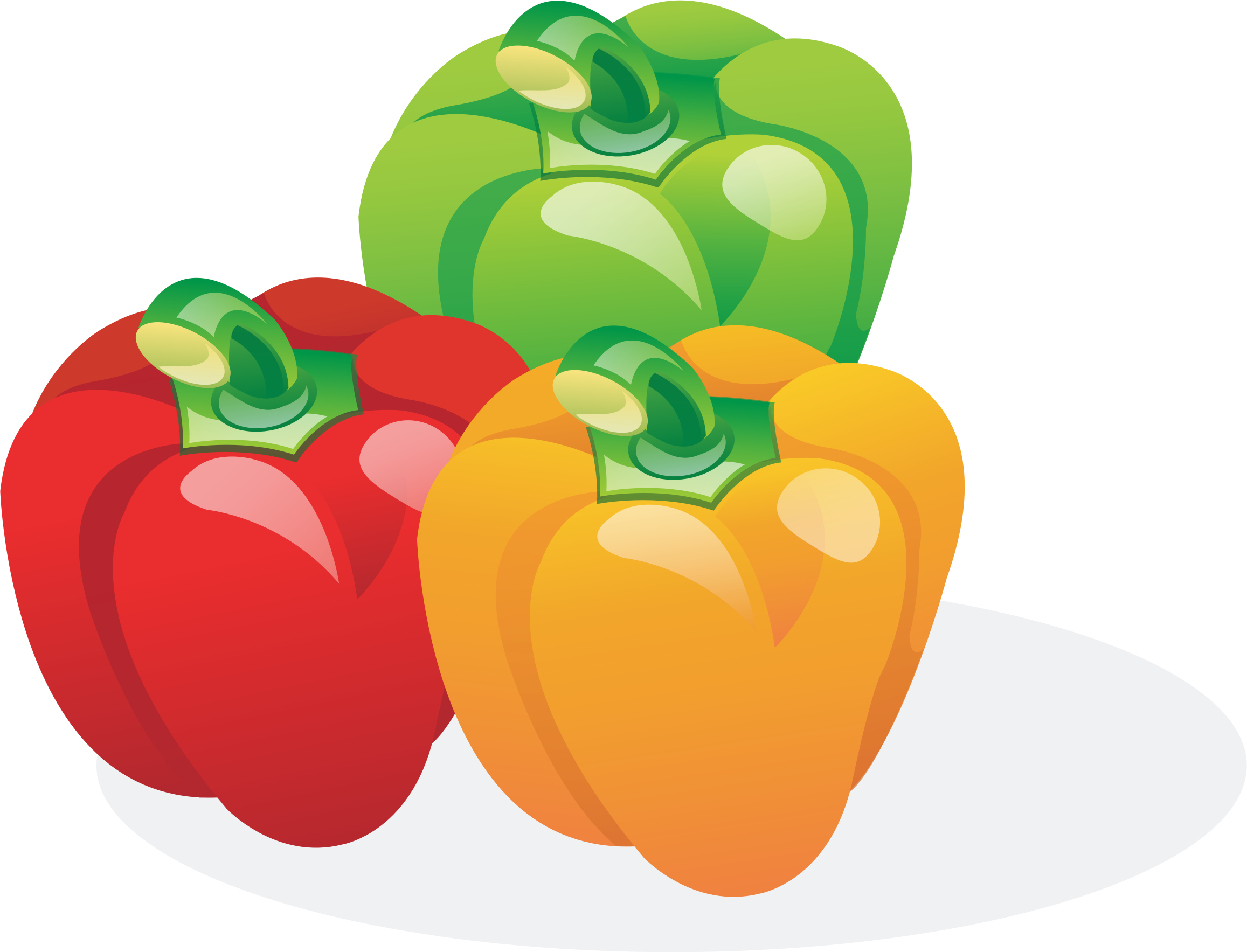 Bell peppers clipart.