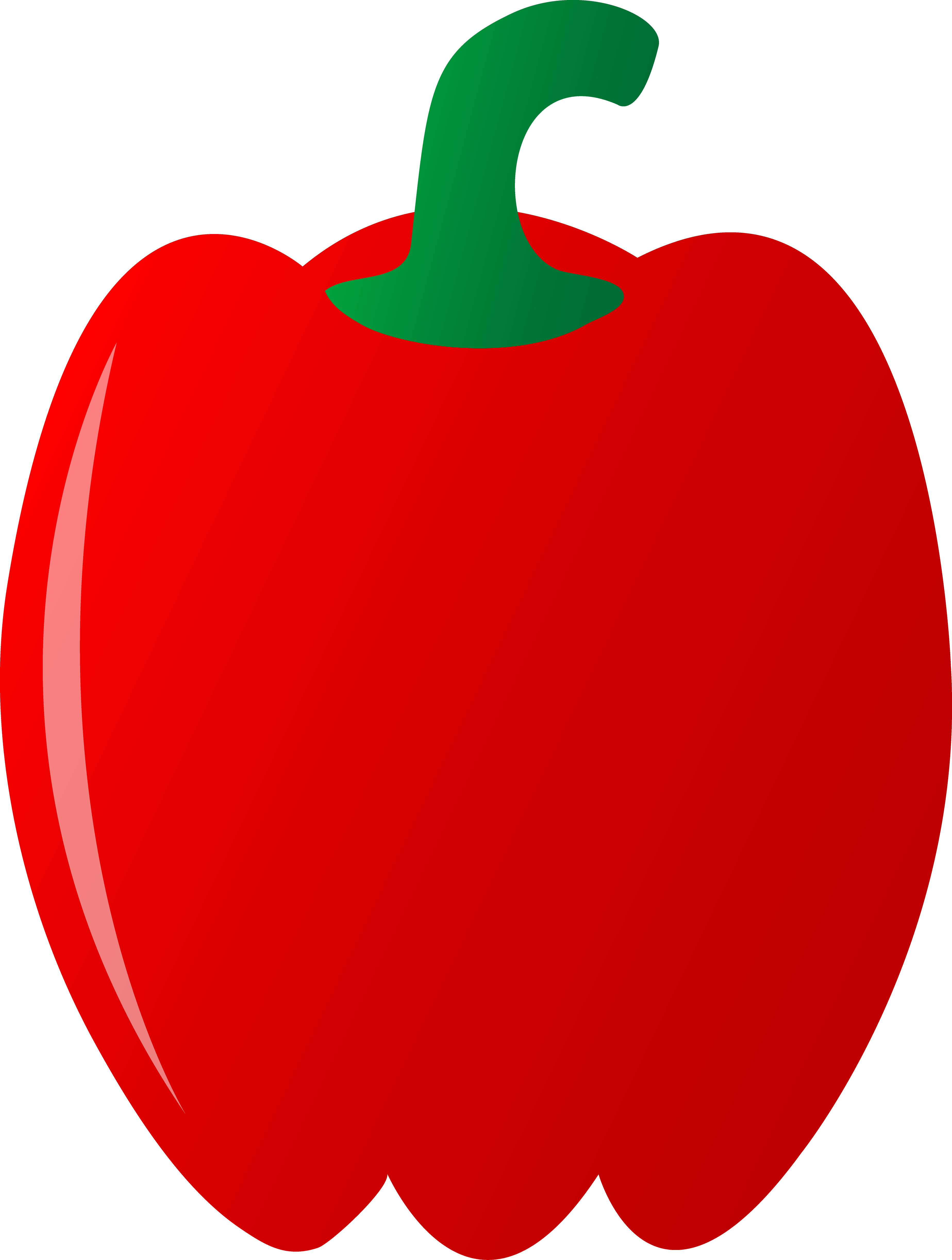 Green bell pepper clipart.