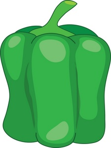 Bell pepper clipart green.