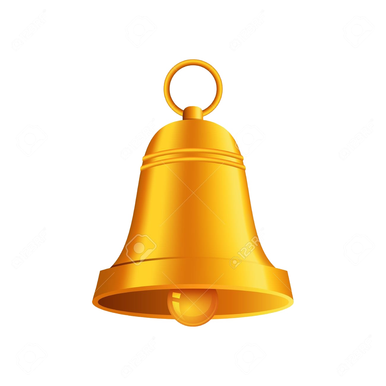 Christmas Bell PNG File.