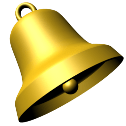 Bell Gold transparent PNG.