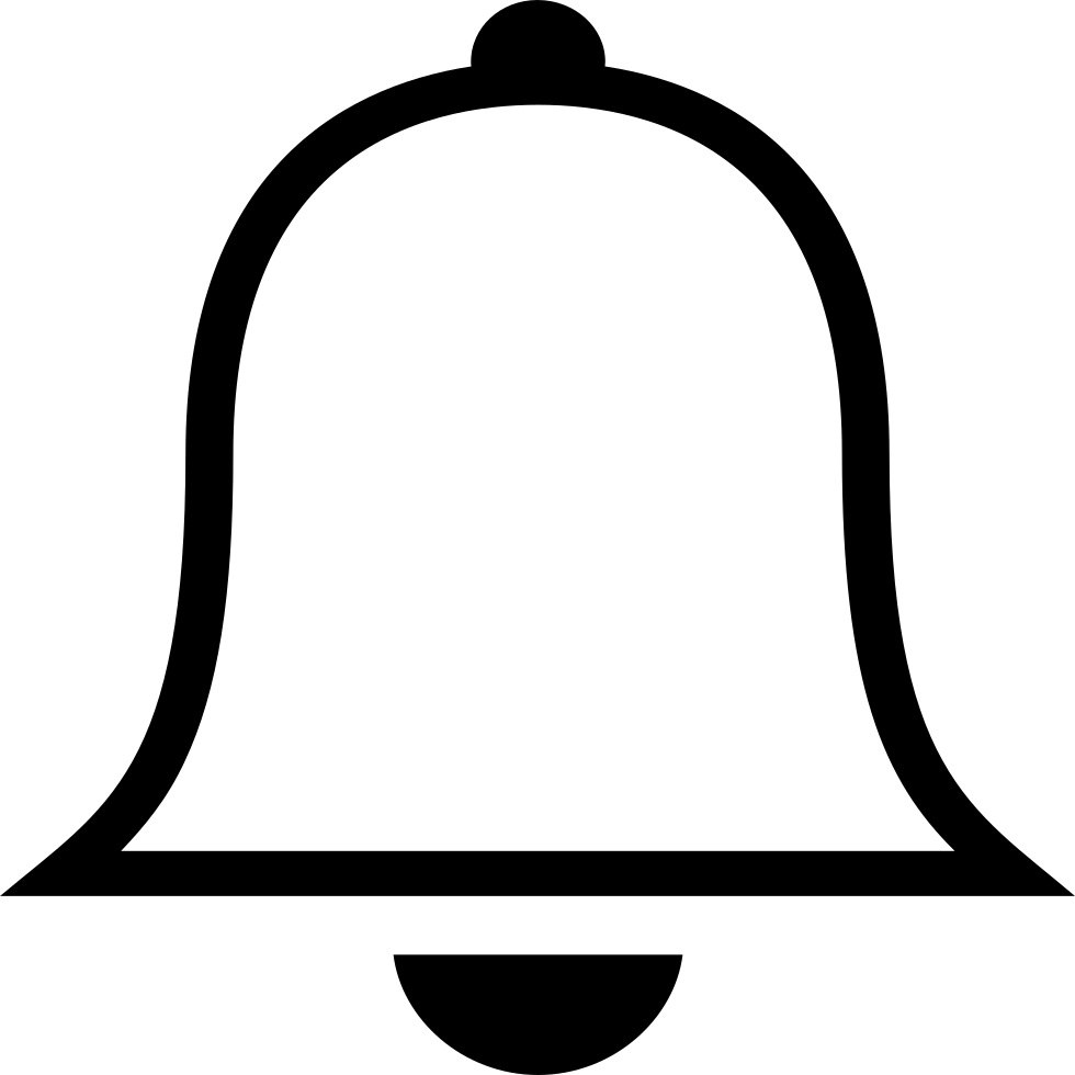 Ios Bell Outline Svg Png Icon Free Download (#411519.