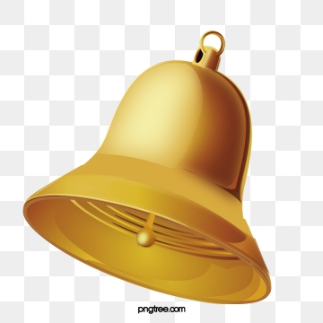 Gold Bell PNG Images.