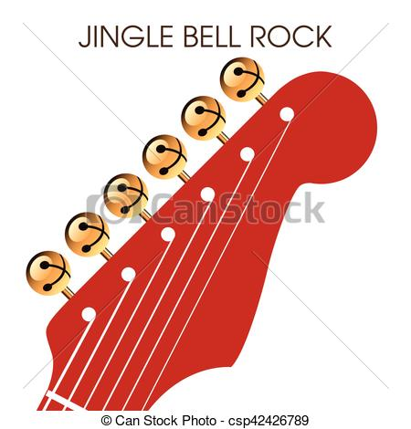 Vector of Jingle bell rock musical holiday artwork for print or.