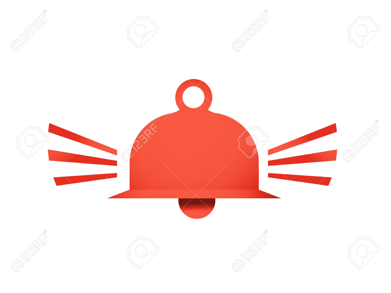 Red Ringing Bell Vector Icon Illustration Symbol Sign Royalty Free.