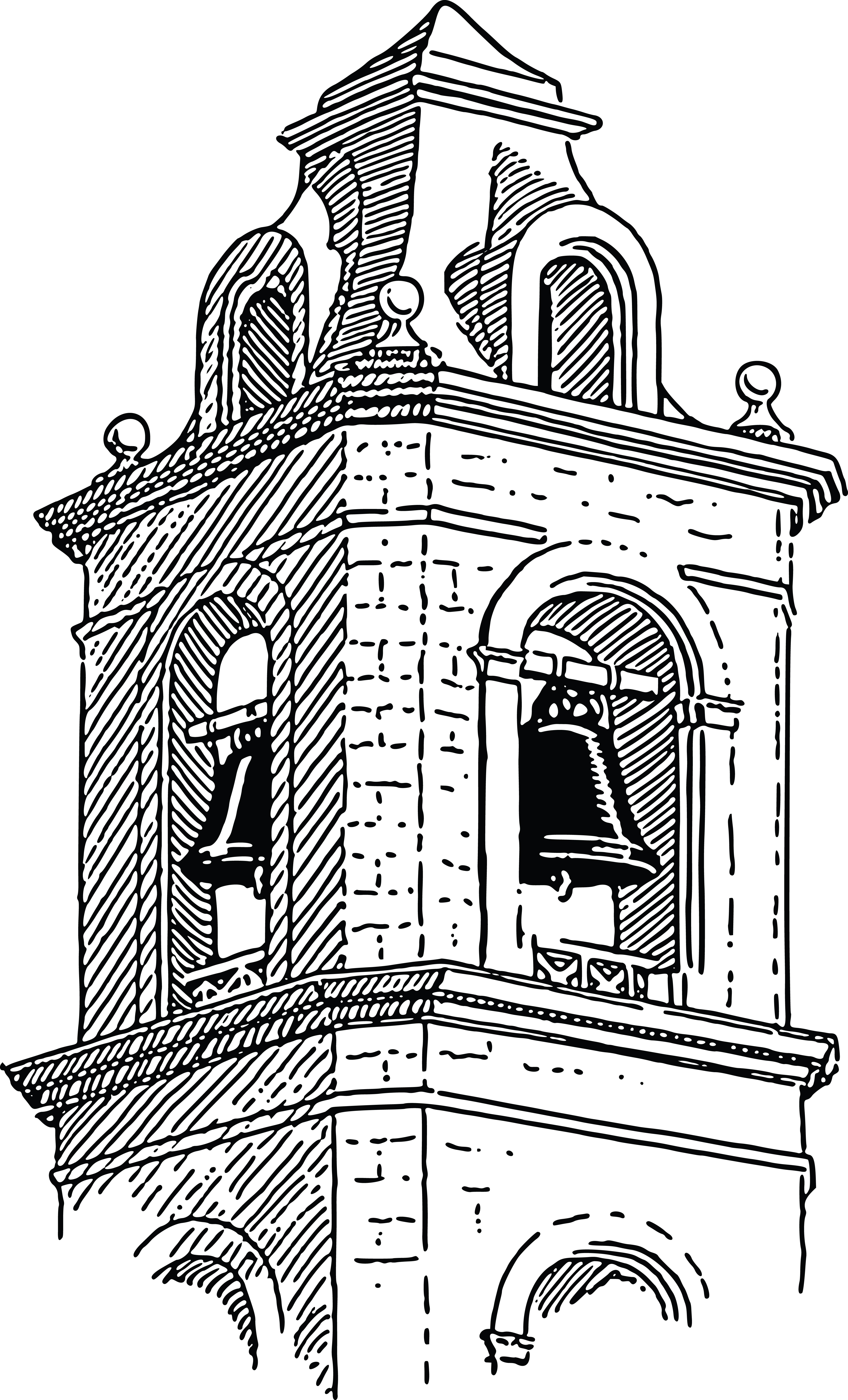Free Clipart Of A Belfry.