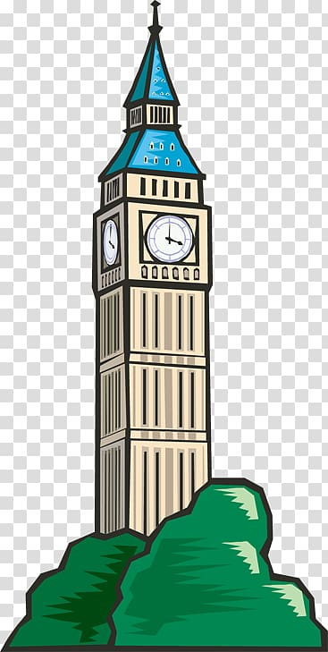Big Ben Clock tower Bell tower , Town Sign transparent background.
